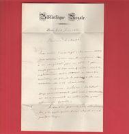 Lettre à Entête De La Bibliothèque Royale De Paris - Juin 1845 Signée De Duchesne Jeune (conservateur Adjoint) - Historical Documents