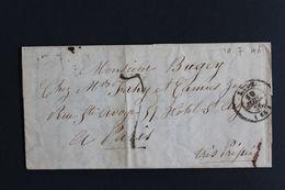 """1846 LAC LYON CAD DU 10/07/1846 POUR PARIS TAXE MANUSCRITE 7 DECIMES """"TRES PRESSE"""" - 1801-1848: Vorläufer XIX"""