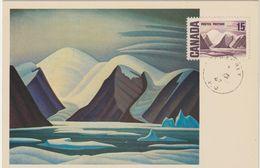 Carte Maximum CANADA N° Yvert 385 (L'ILE BYLOT -Tableau De Lawren Harris)  Obl 1967 - Maximumkaarten