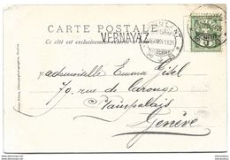 "I - 67 - Carte Gd St Bernard - Supervbes Cachets ""Ambulant Et Cachet Linéaire ""Vernayaz"" 1904 - Briefe U. Dokumente"