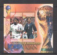 A117 DOMINICA SPORT FOOTBALL ENGLAND IN WORLD CUP KOREA JAPAN 2002 BL MNH - Altri