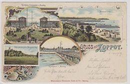 Gruss Aus Zoppot - Mehrbildlitho - 1899       (A-227-200206) - Polen