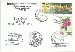 YT 953 - Cité Perdue - Posté à Bord Du MD En Cale Sèche à Durban - Paquebot - 06/01/1998 - África Del Sur (1961-...)