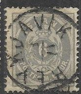 Iceland  1876  Sc#10  6aur Used  Perf 14 X 13 1/2  2016 Scott Value $40 - Oblitérés