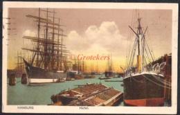 HAMBURG Hafen Segelschiffe 1921 - Mitte