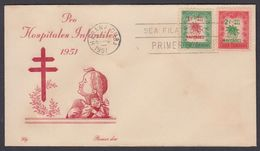 CUBA 1951. NAVIDADES. EDIFIL 472/73. CACHÉ LILY - FDC