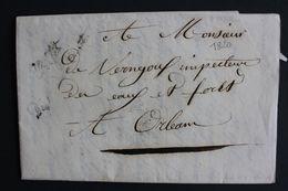 1820 LAC CORESPONDANCE- REPONSE PREFECTURE D'ORLEANS  MARQUE FRANCHISE PREFET, PREFECTURE DU LOIRET... - Marcophilie (Lettres)