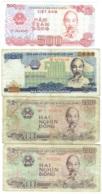 Viêt Nam. Lot De 4 Billets De 500, 2000 Et 5000 Dong. - Vietnam