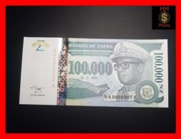 ZAIRE 100.000 100000 N. Zaires  30.6.1996  P. 77 Ax  Low Serial  UNC - Zaire