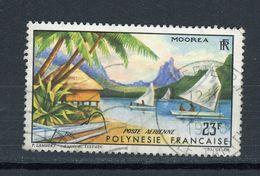 POLYNESIE - PAYSAGE - N° Yt PA 9 Obli. - Poste Aérienne