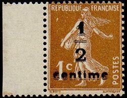 France N°  279 B ** Semeuse De Roty Fond Plein Le 1c Bistre Brun Surchargé - Neufs