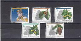 Suisse - Année 1992 - Neuf** - Pro Juventute - N°Zumstein 323/27** - Timbre De Noël - Arbres De La Forêt - Pro Juventute