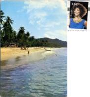GRENADA  Grand Anse Beach  Nice Stamp Whitney Houston - Grenada