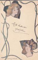 Cpa- Illustrateur-Vienne-Ludwig Rauh-femme-art Nouveau / Art Deco--edi E.S .W 212 3 4 - Vienne