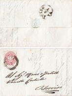 M72 - LUGLIO 1866 LA LIBERAZIONE VENETO 5 Soldi Sass.43 CENEDA ULTIMISSIMO PERIODO DEI FBOLLI LV Nel VENETO - Lombardo-Veneto