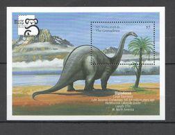 A146 1999 ST. VINCENT FAUNA PREHISTORIC ANIMALS DINOSAURS 1BL MNH - Preistorici