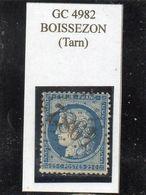 Tarn - N° 60C Obl GC 4982 Boissezon - 1871-1875 Cérès