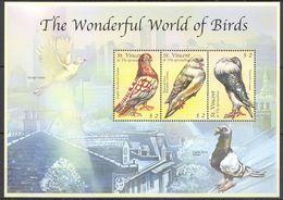 A153 ST. VINCENT FAUNA THE WONDERFUL WORLD OF BIRDS KB MNH - Altri