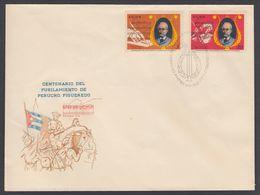 CUBA 1970. CENTENARIO DEL FUSILAMIENTO DE PERUCHO FIGUEREDO. EDIFIL 1784/85 - FDC