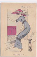 Cpa - Illustrateur-Xavier Sager-femme Chapeau -martyr De La Mode-edi K.F. N°4231 - Sager, Xavier