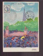 """France Carte Avec Cachet Commémoratif """" Tour De France Cycliste 1955 """" Du 11 Juillet 1955 à Metz - Commemorative Postmarks"""