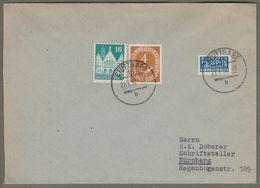 Bizone Bund: Brief Mit Bizone Mi-Nr. 83 Römer, U. Bund Mi.-Nr. 124 Posthorn !    X - Oblitérés