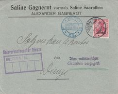 France Lorraine Lettre Censurée Saaralben 1915 - Marcophilie (Lettres)