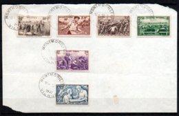 France 466 à 469 Et 497 Et 498 Obl Sur Document - Storia Postale