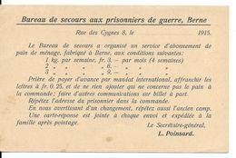 SUISSE - GUERRE 14/18 : Bureau De Secours Aux Prisonniers De Guerre, Livraison De Pain. Berne,1915. CPA. - Guerre 1914-18