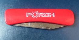 Couteau  - Publicité  FORCH    - Marqué Sur La Lame  ROSTEREI - Knives