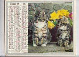 Almanach Des P.T.T. 1975. Chats . Cheval. - Calendars