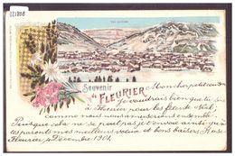 FLEURIER - LITHO GIVREE - ( FORT PLI D'ANGLE ) - NE Neuenburg