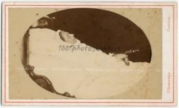 CDV Post-mortem D'une Femme, Par Descamps Palmer, Courtrai, C 1865. FG1506 - Anciennes (Av. 1900)