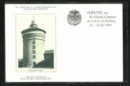 AK Nürnberg, 19. Unions-Congress Der Arbeiter-Radfahr-Union 1904, Frauentor-Turm - Eventi
