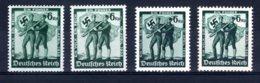 Reich  Michel #  662 - 63 **  (4 X) - Germany