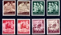 Reich  Michel #  869 - 72 **  (2 X)  Farbunterschiede - Germany