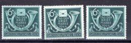 Reich  Michel #  904 **  (3 X)  Farbunterschiede - Germany