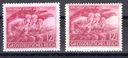 Reich  Michel #  908 **  (2 X)  Farbunterschiede - Germany