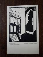 L9/47 Libye . Leptis Magna. Piscina Delle Terme .Tempio D'Iside. Xilografia Di Giuseppe Rondini.Ministero Delle Colonie - Libya