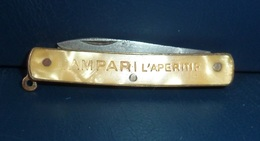 Couteau - Publicité - CAMPARI L'Apéritif - Knives