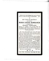 M.HAMERLINCK °LEMBEKE 1895  +GENT 1936 (B.DOBBELAERE) - Devotion Images