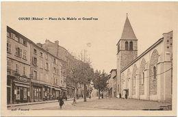 Cours : Place De La Mairie Et Grand Rue - Cours-la-Ville