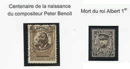 Belgique N° 384 Et 385 De 1934 - Belgique