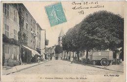 Cours : La Place Du Marché - Cours-la-Ville