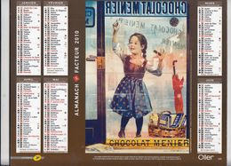 Almanach Des P.T.T. 2010. Chocolat Menier. Biscuits Lu. - Calendars