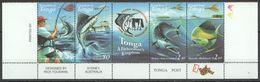 A204 2001 TONGA FAUNA FISH MARINE LIFE FISHING #1600-3 SET MNH - Altri