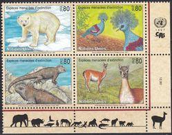 UNO-Genf, 1997, 305/08, MNH **, Gefährdete Arten (V): Fauna. - Nuevos