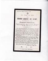M.DE BEUF °OOST-EEKLO 1862 +1931 (F.DOBBELAERE) - Devotion Images