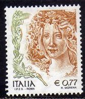 ITALIA REPUBBLICA ITALY REPUBLIC 2004 LA DONNA NELL'ARTE WOMAN IN THE ART I.P.Z.S. ROMA € 0,77 MNH - 2001-10: Mint/hinged