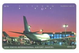Télécarte NTT : Nouvel Aéroport International De Tokyo (Narita) - Avions
